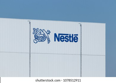 Anderson - Circa April 2018: Nestle manufacturing plant. Nestle produces Coffee-Mate, Nesquick, and Buitoni pastas in Indiana I