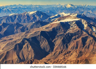 Andes from airplane