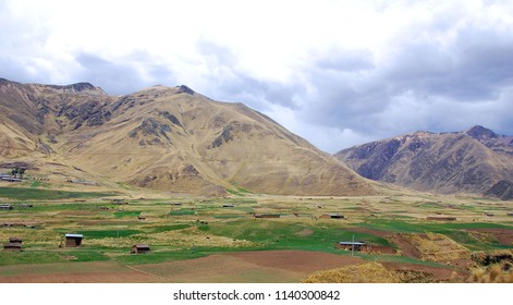 Andes landscape in the altiplano in the south of Peru