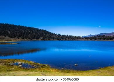 The Andes. Mountain lake. State Merida, Venezuela.