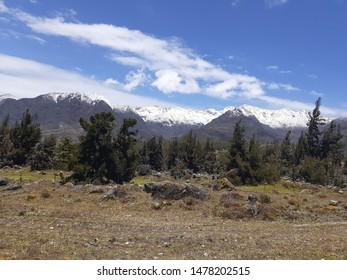 Andes mountain range in Merida Venezuela