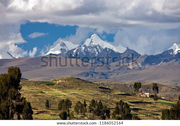 Andes Mountains High On Altiplano Bolivia Stock Photo Edit Now 1186052164