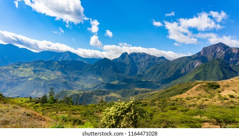 andes mountains landscape of north Peru