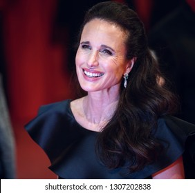 Andie MacDowell attends the 'The Kindness Of Strangers' premiere  the 69th Berlinale International Film Festival at Berlinale Palace in Berlin, Germany on February 07, 2019.