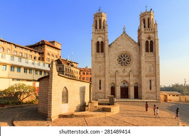 Andohalo Cathedral in Antananarivo, Madagascar, biggest church in Madagascar