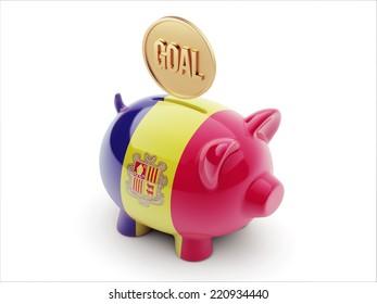 Andorra High Resolution Goal Concept High Resolution Piggy Concept