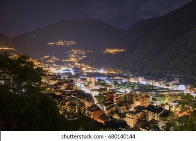 Andorra ka vella mountains night sky
