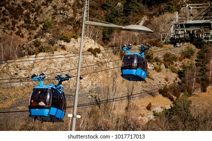 Andorra, Andorra la Vella -31.01.2018, Funicular, Funicular railway.