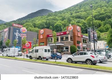 Andorra la Vella, Andorra - June 3, 2019: Burger King Retail Fast Food in Andorra.