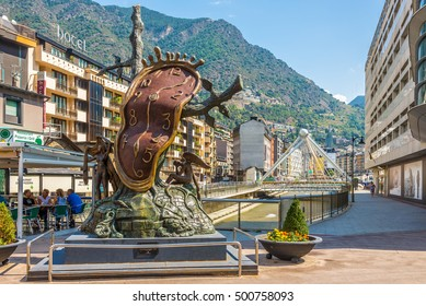 ANDORRA LA VELLA,ANDORRA - AUGUST 29,2016 - In the streets of Andorra la Vella. Andorra is the capital of the Principality of Andorra, and is located high in the east Pyrenees .