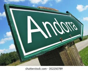 Andorra road sign