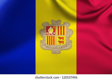 Andorran national flag.