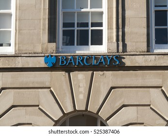 Andover, High Street, Hampshire, England - 29 November, 20116: Barclays local bank branch, British retail and commercial bank, operations in over 50 countries and has around 48 million customers
