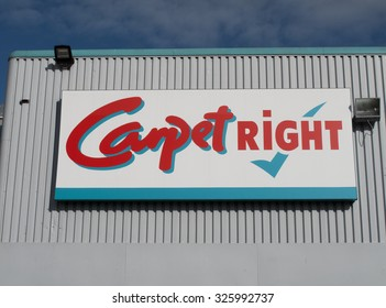 Andover, Retail Park Churchill, Churchill Way, Hampshire, England - October 10, 2015: Carpetright store, company established by Lord Harris of Peckham in 1988