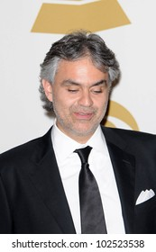 Andrea Bocelli at the 52nd Annual Grammy Awards, Press Room, Staples Center, Los Angeles, CA. 01-31-10