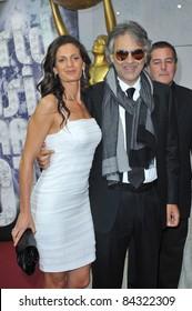 Andrea Bocelli & Veronica Berti at the 2010 World Music Awards at the Monte Carlo Sporting Club, Monaco. May 18, 2010  Monaco, France Picture: Paul Smith / Featureflash