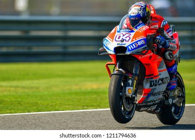 Andrea Dovizioso of Italy and Ducati Team in action during the Free Practice The PTT Thailand Grand Prix - MotoGP at Chang International Circuit on October 5, 2018 in Burirum ,Thailand