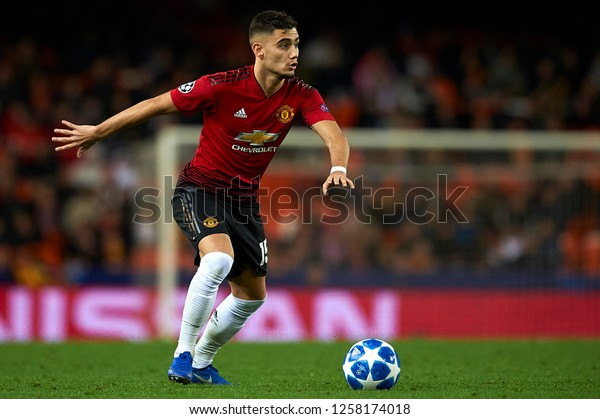 Andreas Pereira Manchester United During Match Stock Photo Edit Now 1258174018
