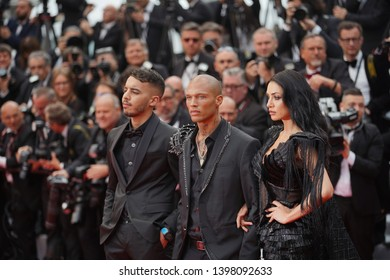 Andreea Sasu, Jeremy Meeks and Adam Abaida Atarshi attend the opening ceremony during the 72nd Cannes Film Festival on May 14, 2019 in Cannes, France.