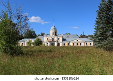 Andreevskoye, Vladimir region, Russia - August 22, 2015: The old manor house of count Vorontsov in the former Andreevskoye estate