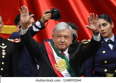 Andres Manuel Lopez Obrador take oath as New Mexican President during the ceremony of 65th  Mexico Presidential Inauguration on December 1, 2018 In Mexico City