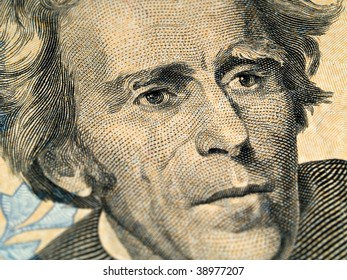 Andrew Jackson as depicted on the US $20 Dollar Bill