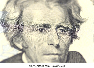 Andrew Jackson portrait from us 20 dollars