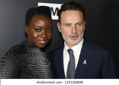 Andrew Lincoln and Danai Gurira at the premiere of AMC's 'The Walking Dead' Season 9 held at the DGA Theater in Los Angeles, USA on September 27, 2018.