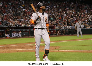 Andrew McCutchen outfielder for the San Francisco Giants at Chase Field in Phoenix,AZ USA July 1,2018.