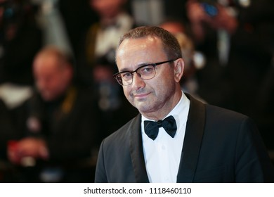 Andrey Zvyagintsev attends the screening of 'Leto' during the 71st annual Cannes Film Festival at Palais des Festivals on May 9, 2018 in Cannes, France. (