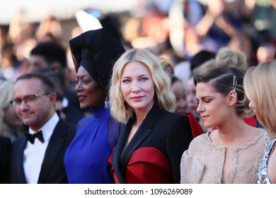 Andrey Zvyagintsev, Khadja Nin, Jury president Cate Blanchett attend Closing Ceremony during the 71st  Cannes Film Festival at Palais des Festivals on May 19, 2018 in Cannes, France.
