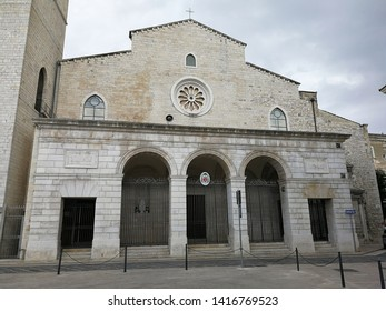 Andria, Puglia, Italy - May 19, 2019: Cathedral of Santa Maria Assunta in Cielo
