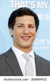 Andy Samberg at the Los Angeles premiere of 'That's My Boy' held at the Westwood Village Theater in Los Angeles, USA June 4, 2012.