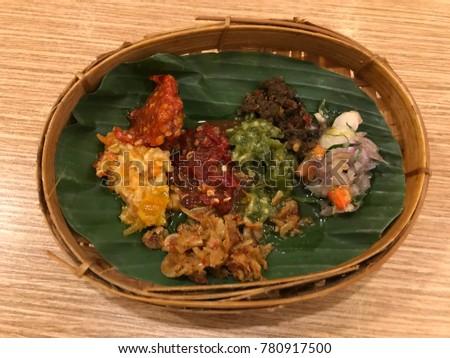 Aneka Sambal Variety Sambal Indonesia Stock Photo Edit Now