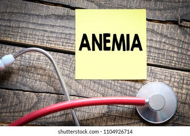 ANEMIA. Medical Concept.