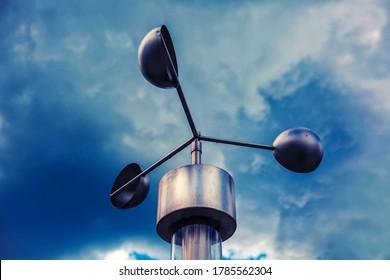 Anemometer, meteorological weather-station (measurement equipment) - Shutterstock ID 1785562304