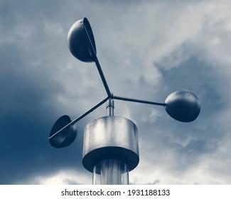 Anemometer, meteorological weather-station (measurement equipment) - Shutterstock ID 1931188133