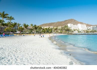 Anfi beach - island Gran Canaria, Spain