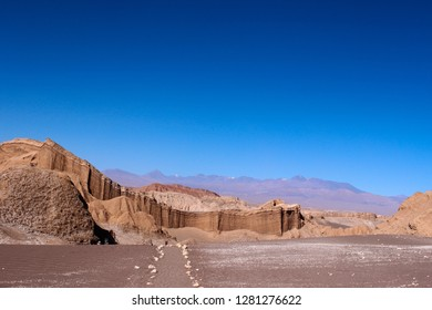 Anfiteatro in Moon Valley,Desert of Atacama, Chile
