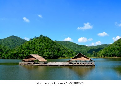 Ang Kep Nam Khao Wong have old traditional house in the lake of khao wong, Suphan Buri Province,Thailand, the atmosphere is similar. Pang ung, Mae Hong Son Province, Thailand
