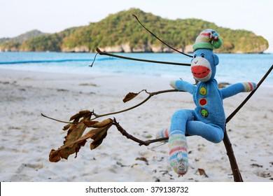 ang thong beach and monkey doll