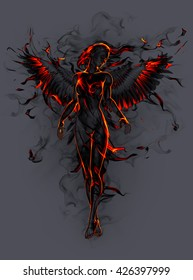 Angel. 3D illustration.