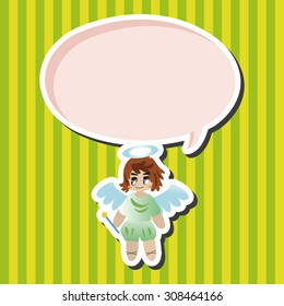angel, cartoon speech icon