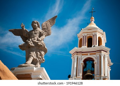 An angel in the church of Cholula