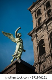 An angel in the church of Puebla