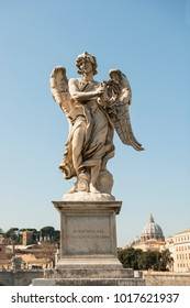 Angel with the crown of thorns, Angel's brigde, Rome, Italy