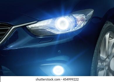 Angel eyes xenon headlight glowing optics lens