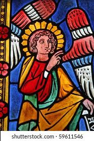 Angel Gabriel in a church