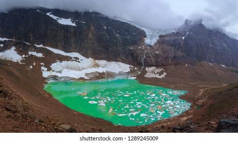 Angel Glacier on Mt. Edith Cavell in Jasper National Park, Alberta, Canada
