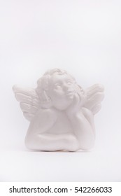Angel from gypsum